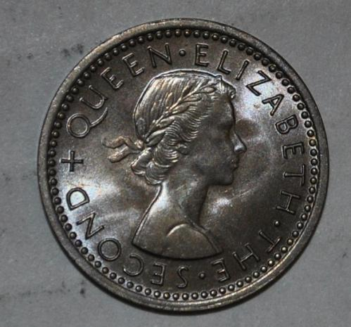 New zealand 3 pence 1965