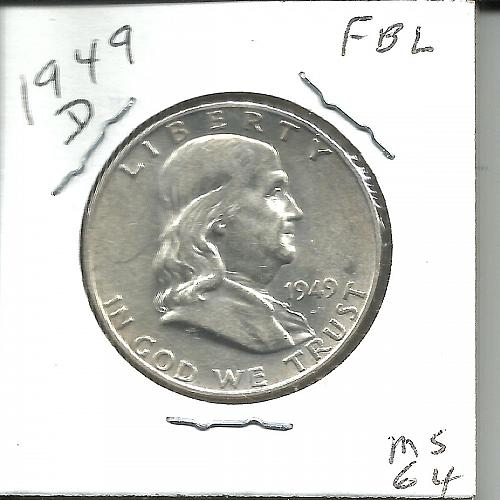 1949  D   FRANKLIN HALF DOLLAR