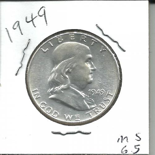 1949  P   FRANKLIN HALF DOLLAR