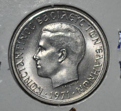 Greece 2 Drachmai 1971