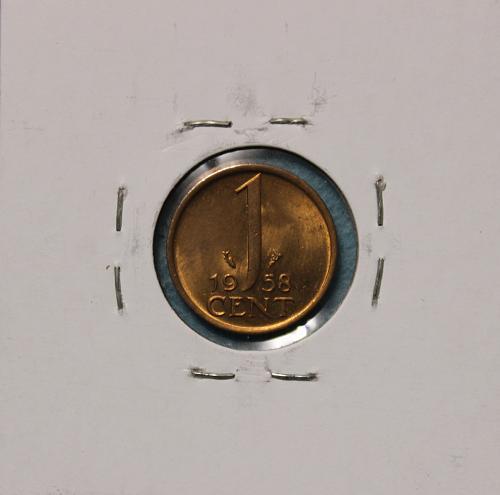 Netherlands 1958 1 cent