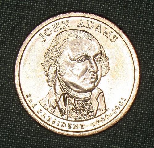 MS 2007D John Adams dollar