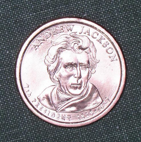 MS 2008D Andrew Jackson dollar