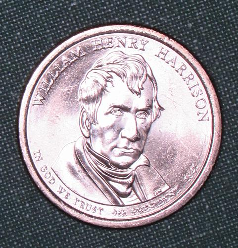 MS 2009D William Henry Harrison dollar