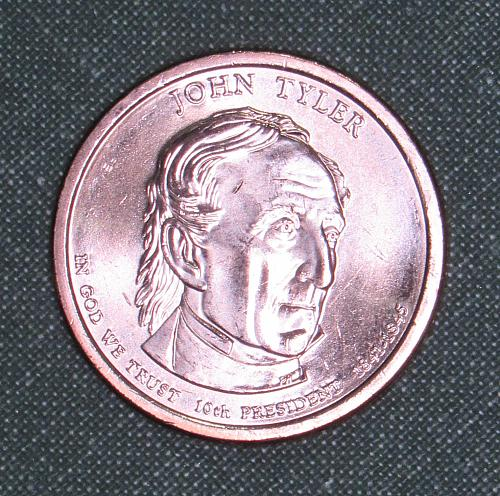 MS  2009D John Tyler dollar