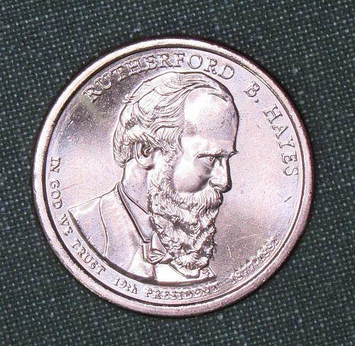 MS 2011D Rutherford B. Hayes dollar