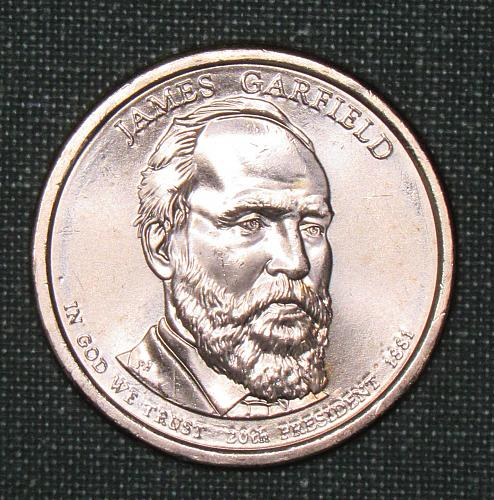 MS 2011D James A Garfield dollar