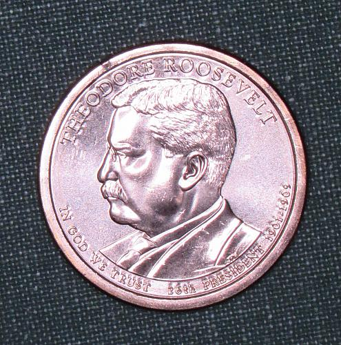MS 2013D Theodore Roosevelt dollar