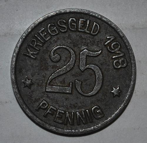 Kriegseld 25 Pfennig 1918