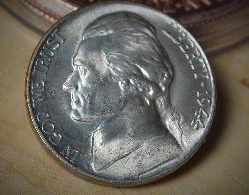 1944 P Jefferson Silver Nickel - BU