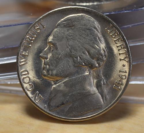 1941 S (small S) Jefferson Nickel BU - with 4 steps!!!