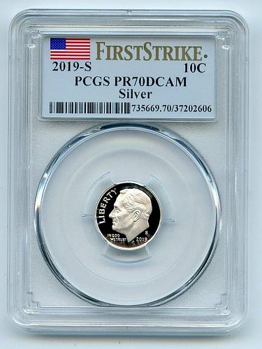 2019 S 10C Silver Roosevelt Dime PCGS PR70DCAM First Strike
