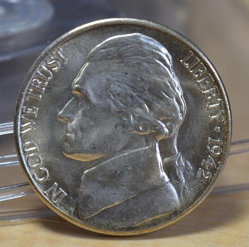 1942 S Jefferson Silver Nickel - BU