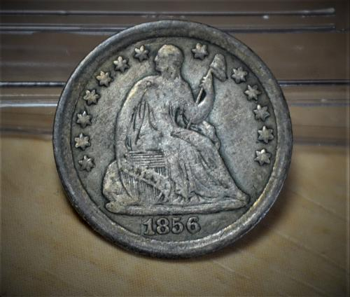 1856 Seated Liberty Silver Half Dime