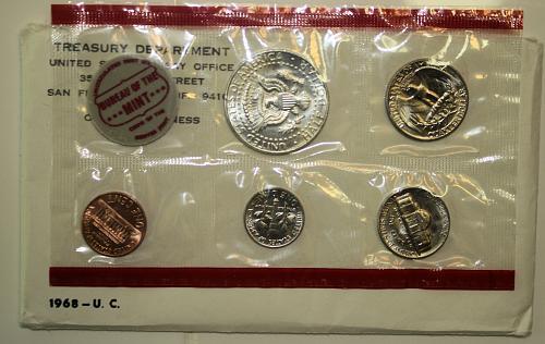 1968 P-D-S US Mint Set