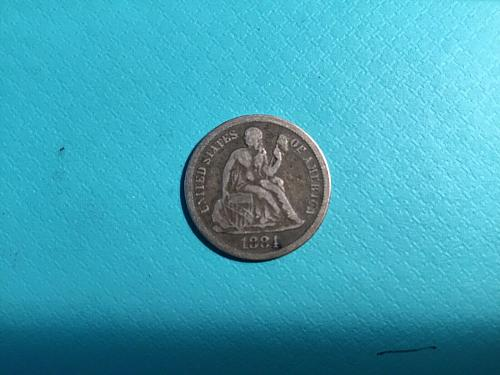 1884-P Liberty Seated Silver Dime