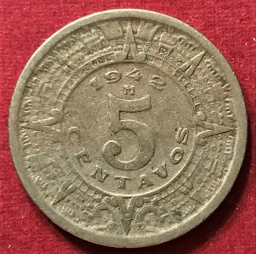 Mexico 1942 = 5 Centavos