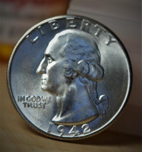 1942 D Washington Silver Quarter BU