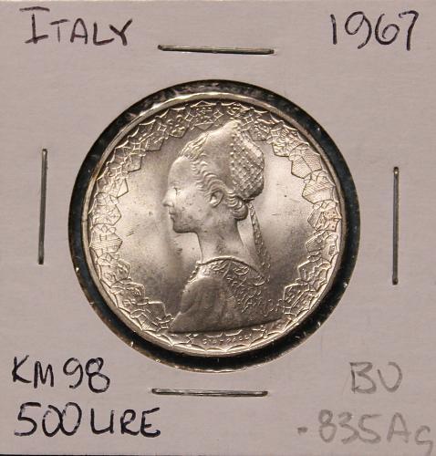 Italy 500 Lire 1967