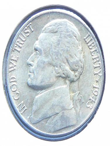 1943 S Jefferson Nickel (AU-55)