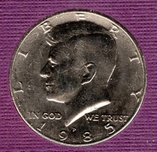 1985 P Kennedy Half Dollars -1