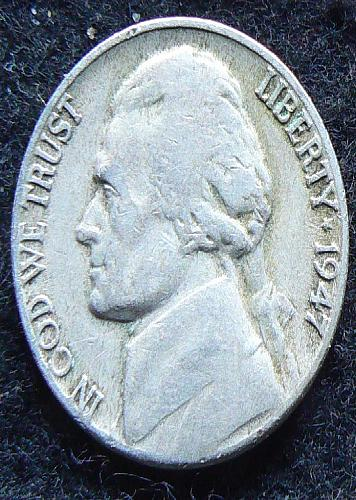 1947 D Jefferson Nickel (VF-20)