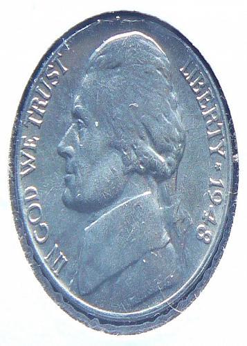 1948 P Jefferson Nickel (AU-58)