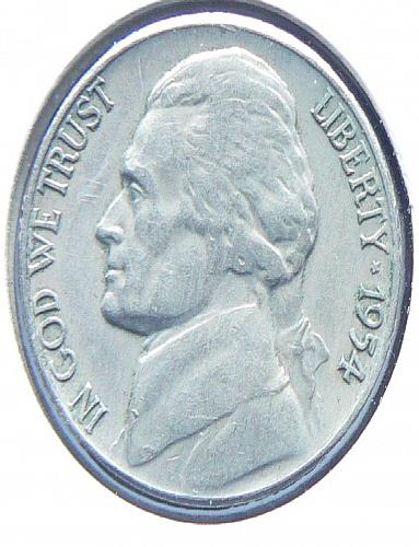 1954 S Jefferson Nickel (VF-30)