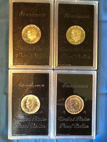 Eisenhower Silver Dollars; 40% Silver; U.S. Mint Packaging: 1971 - 1974