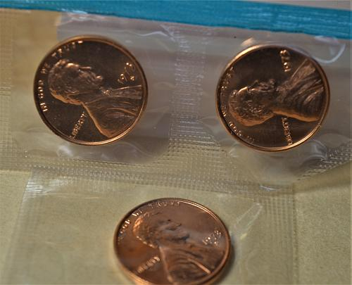1973 Lincoln Memorial Cents P D & S (3 coins) RED BU