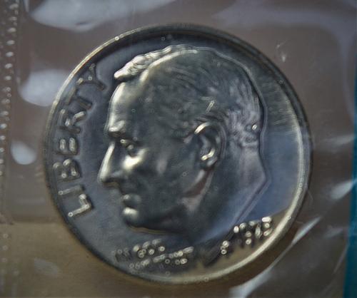 1973 Roosevelt Dimes P&D (2 coins in mint cellos) BU