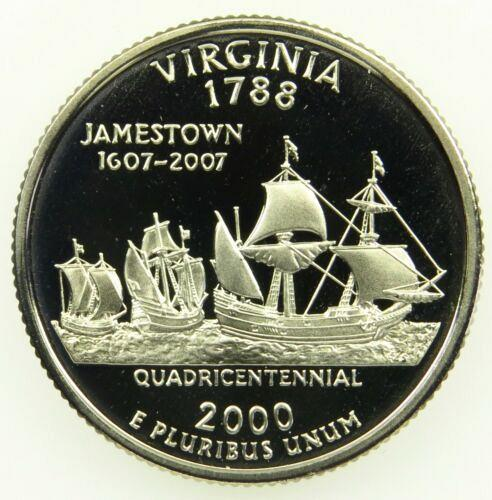 2000 S   SILVER PROOF VIRGINIA   STATE QUARTER