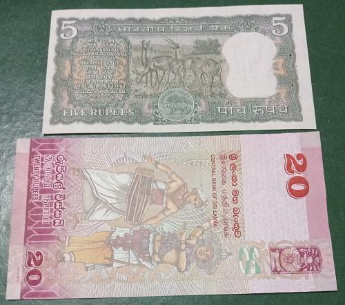 India & Srilanka Un-Circulated notes