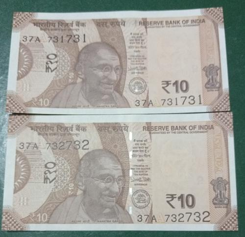 India two  Un-Circulated notes..2018