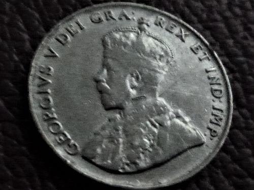 1924 Five Cents Nickel Canada Canadian