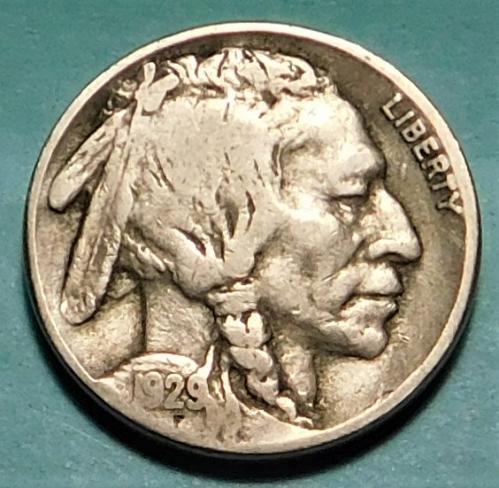 1929 S Buffalo/Indian Head Nickel