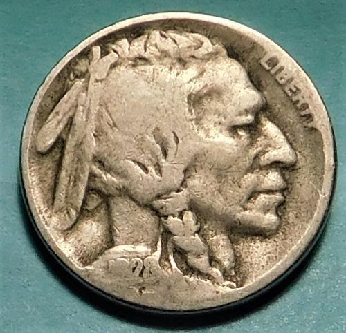1928 S Buffalo/Indian Head Nickel