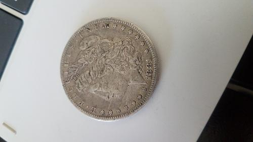 1881-O Morgan Silver dollar early years Very Fine