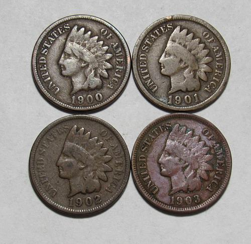 1900-1903 P Indian Head Cents