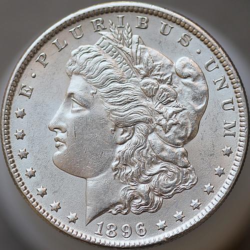 1896 P Morgan Silver Dollar - Gem BU / MS / UNC