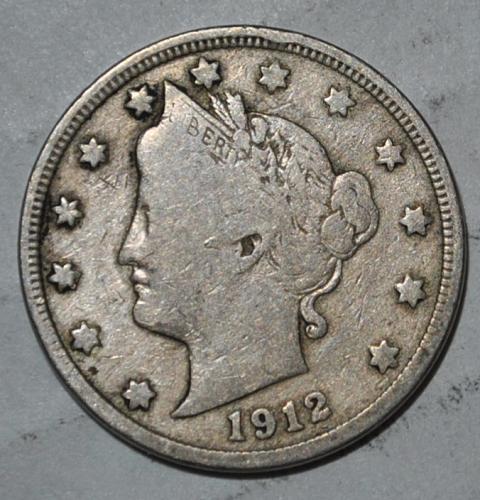 1912 P Liberty Nickel