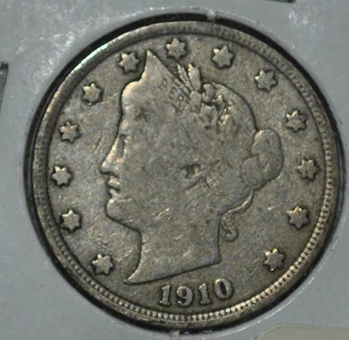 1910 P Liberty Nickel