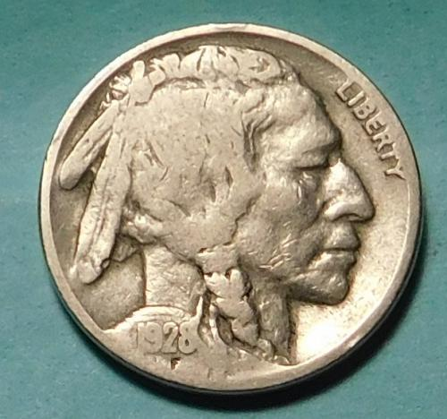 1928 P Buffalo//Indian Head Nickel
