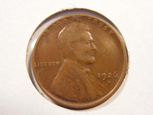 1926 D Lincoln Cent - Better Grade, Low Mintage (26DX14)