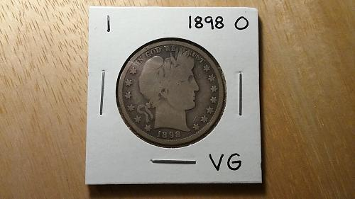 1898 O Barber Half Dollar