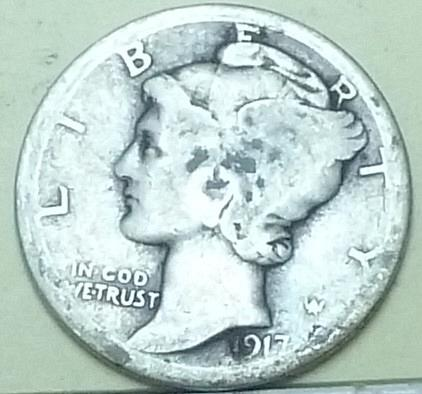 1917-D Good Mercury Dime   ( Q119 )