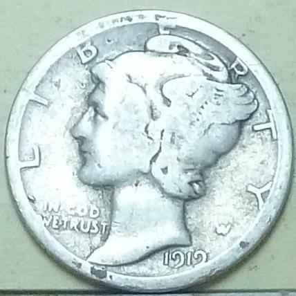 1919-S Good Mercury Dime   ( Q104 )