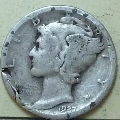 1927-D Good Mercury Dime ( Q129 )