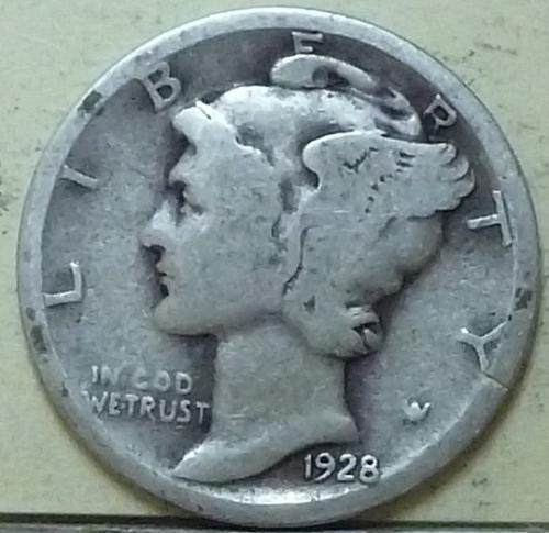 1928-D Good Mercury Dime ( Q116 )