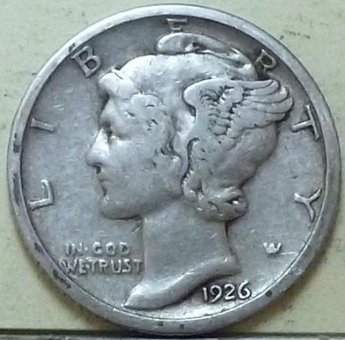 1926-S VERY FINE+ Mercury Dime VF+ ( Q101 )